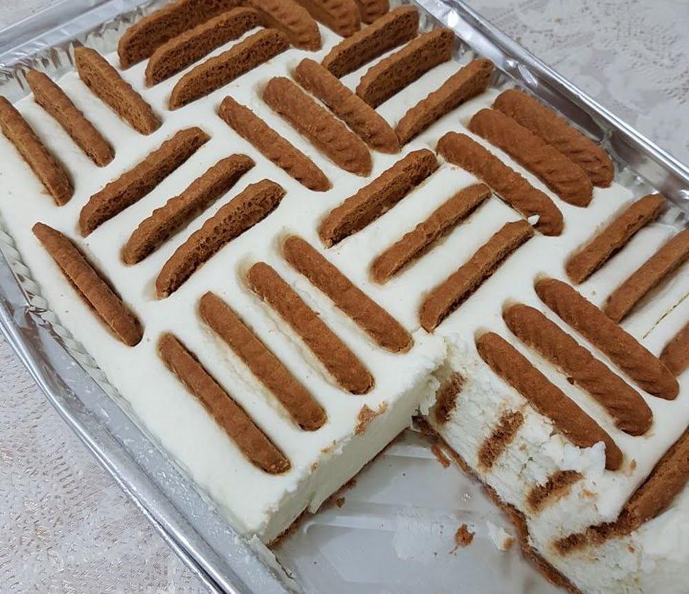 עוגת גבינה עם ביסקויטים_מתכון של כרמלה שמואל