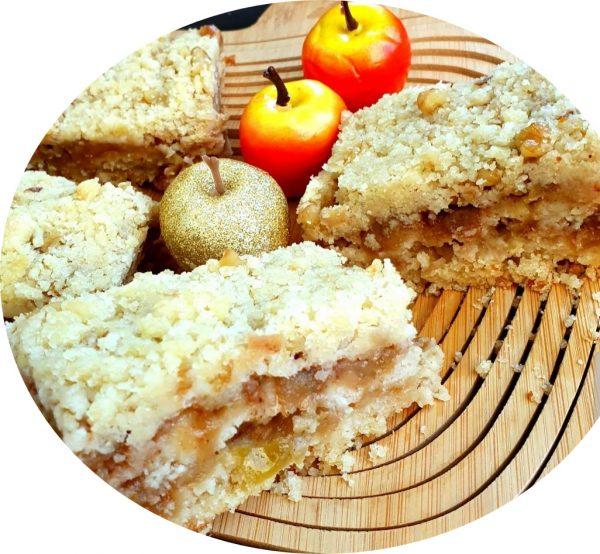 עוגת תפוחים פירורית_מתכון של אורה ארגוב
