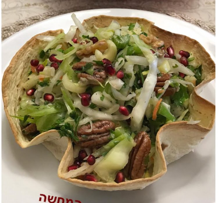 מתכון כתוב + סרטון המחשה להכנת סלט ירוק עשיר לראש השנה🍎 תפוח אגוזים פקאן חמוץ מתוק חריף_מתכון של סיגלית ימין