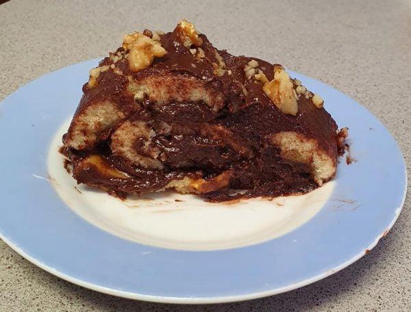 רולדה במילוי קרם בטעם שוקולד בלגי מריר_מתכון של יפה וקס ברקו