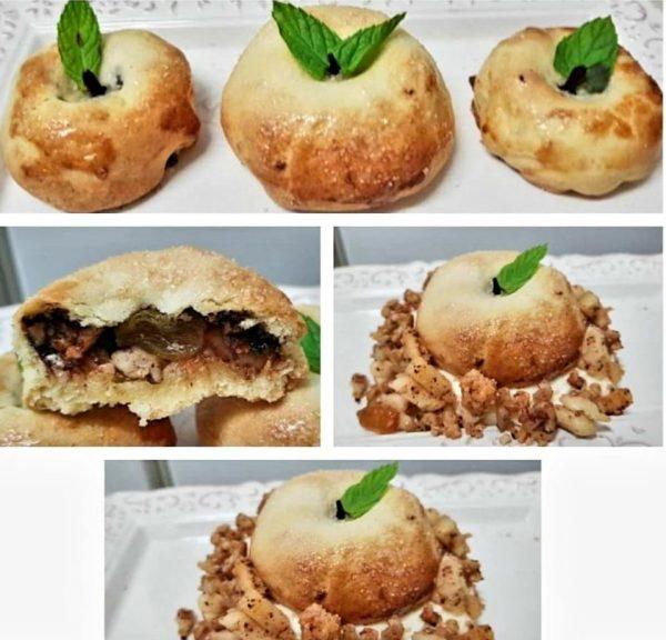 בצק מוכן במילוי תפוחים אגוזים וקינמון_מתכון של ירדנה ג'נאח