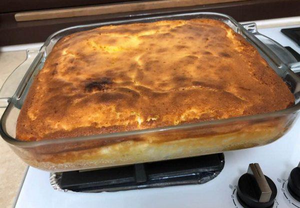 עוגת גבינה רומנית עם קמח תירס🌺_מתכון של עדינה בטש