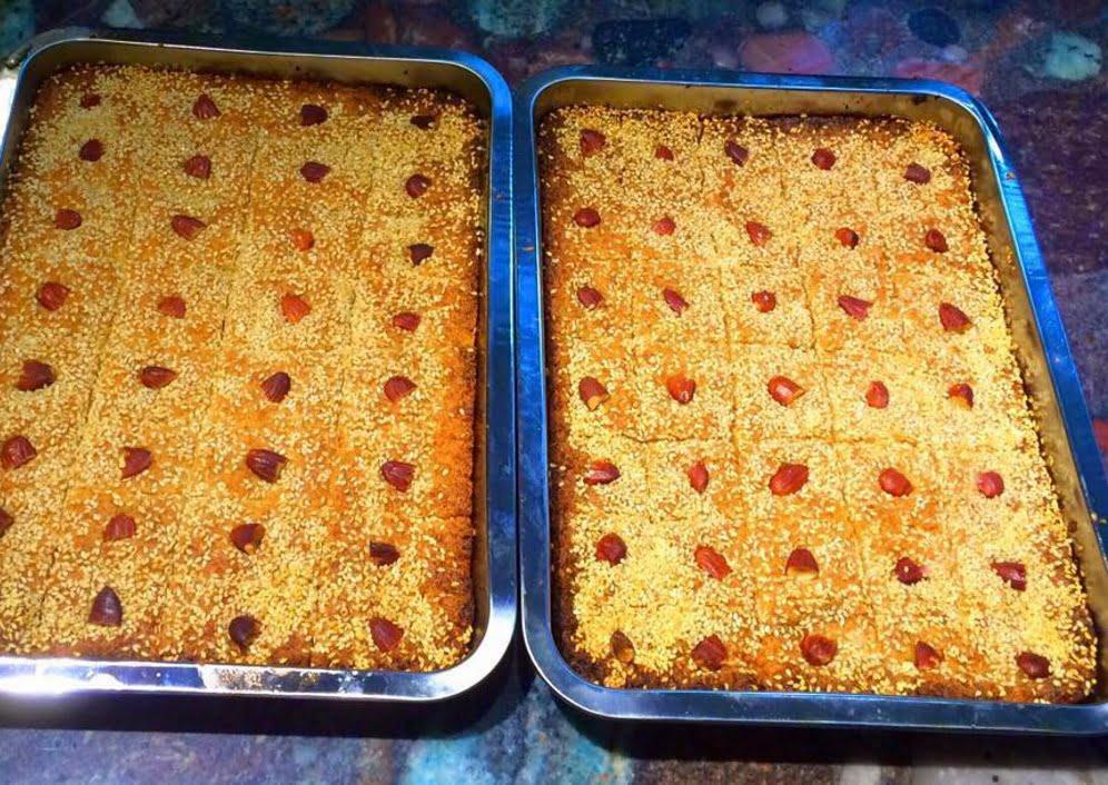 עוגת סולת / בסבוסה_מתכון של בריג'יט רובין סבן