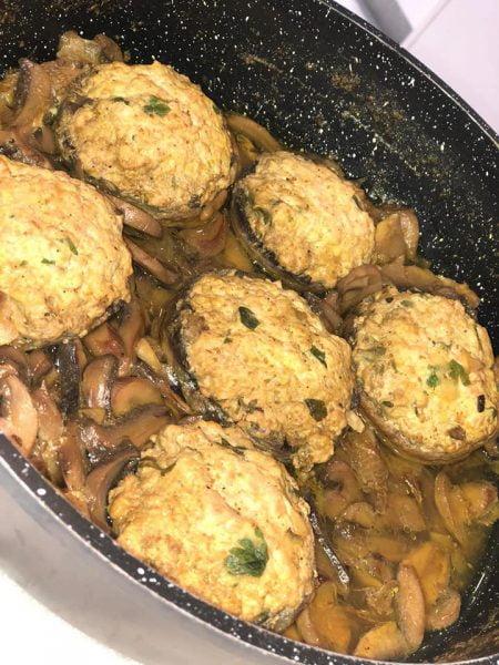 פטריות ממולאות בבשר הודו טחון_מתכון של אילנה בוכריס