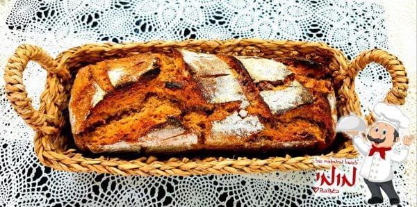מתכון כתוב + סרטון להכנת לחם מחמצת מקמח לחם וקמח מלא, עם תערובת זיתים🔥_מתכון של טלי כהן שטרלינג