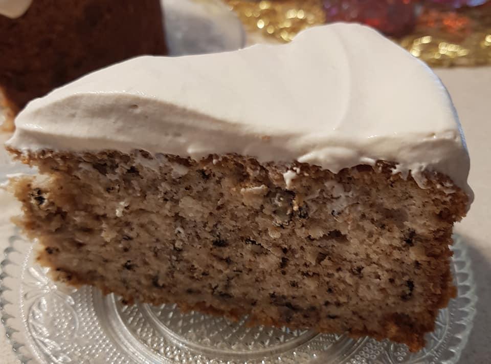 עוגת אגוזים עם קרם קפה_מתכון של נורית יונה