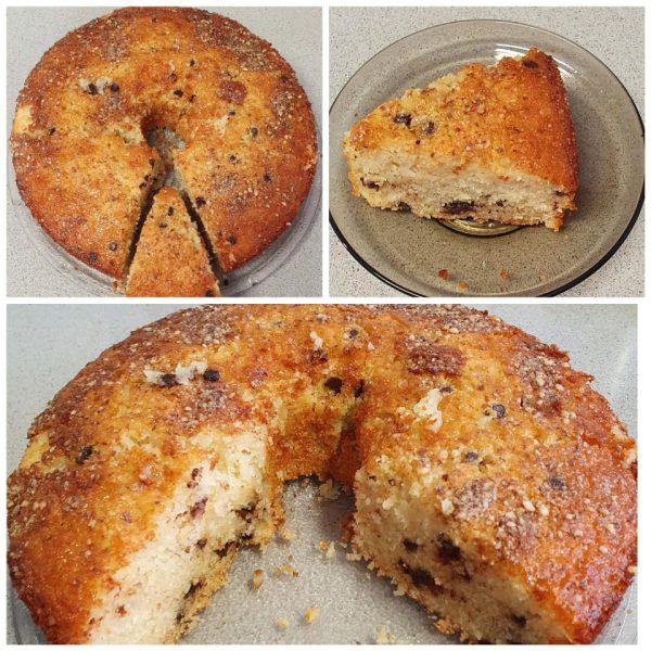 עוגת תפוזים קוקוס סולת שוקולד ציפס בציפוי אגוזי מלך טחונים_מתכון של יפה וקס ברקו