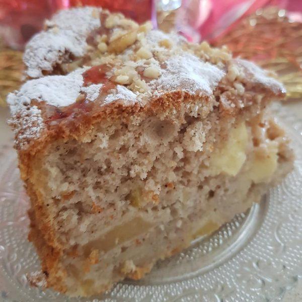 עוגת תפוחים גבוהה_מתכון של נןרית יונה