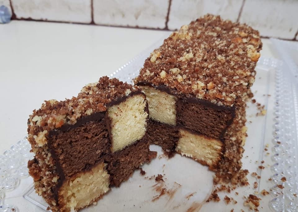 2 עוגות דמקה ❤ עוגה בחושה פשוטה קלה וטעימה _מתכון של ירדנה ג'נאח