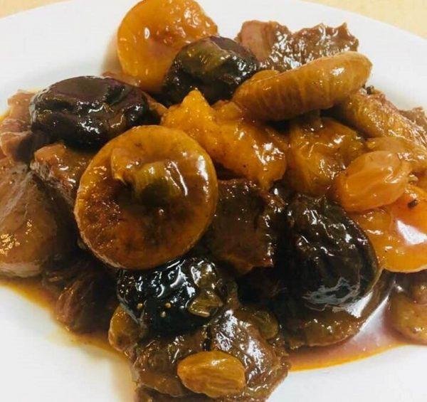 צלי בשר עם פירות יבשים 🍒_מתכון של עדינה בטש
