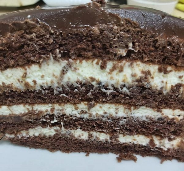 מתכון כתוב + סרטון המחשה להכנת עוגת מוס שוקולד מצופה בגנאש שוקולד ,4 שכבות של עונג🍫🍫_מתכון של גיטה סלע