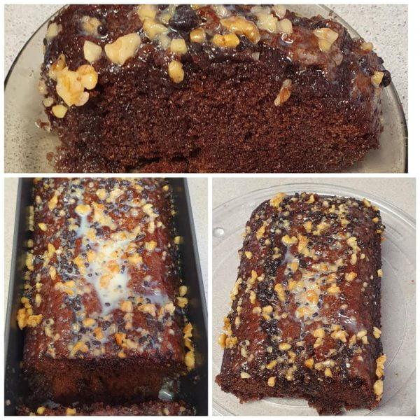 עוגת שוקולד בציפוי גנאש שוקולד לבן עוגיות ואגוזי מלך_מתכון של יפה וקס-ברקו