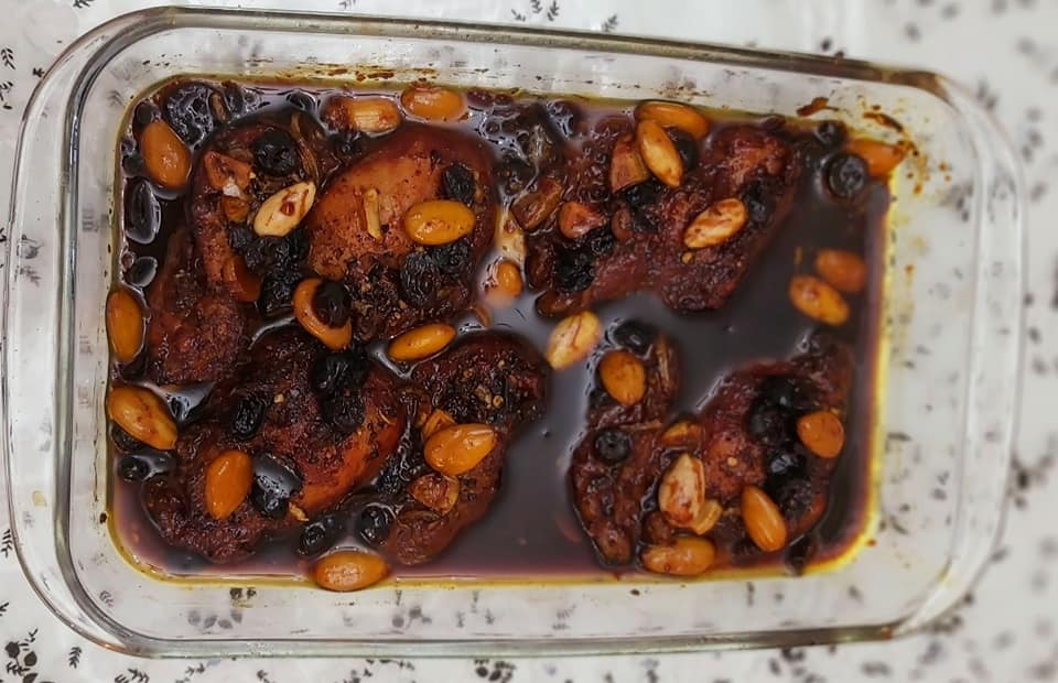 פרגיות עם עם חמוציות_מתכון של רוז טעים במטבח אוחנה