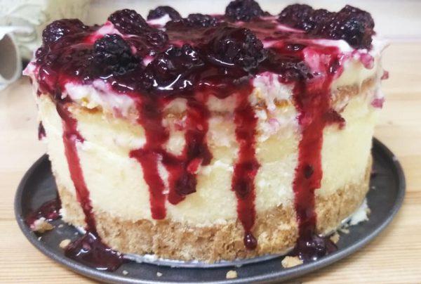 עוגת גבינה ופטל שחור_מתכון של רוחמה כהן