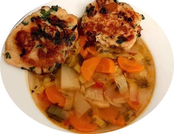 מרק ירקות עם קציצות לחם😋_מתכון של ברכה זולינג – Ba Su