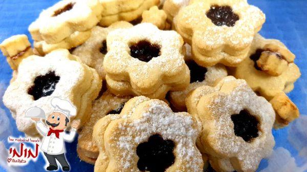 עוגיות פריכות וטעימות ממולאות ריבת אוכמניות🔥_מתכון של טלי כהן שטרלינג