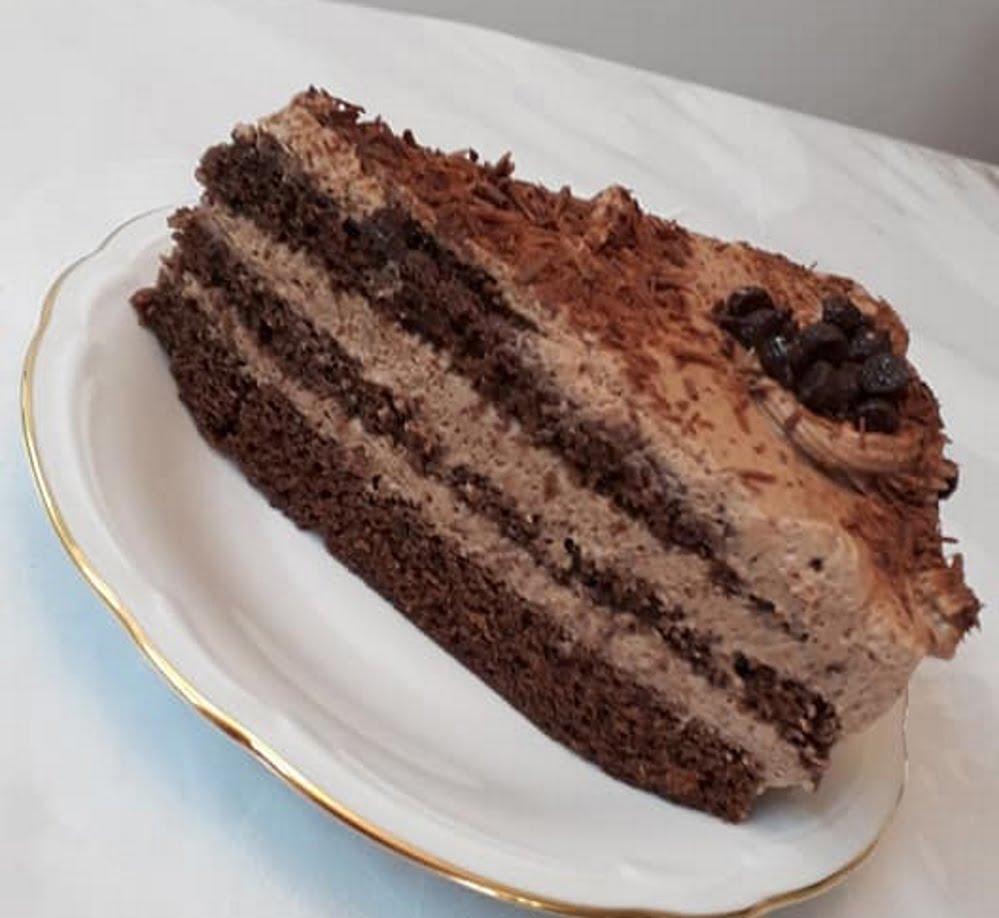 עוגת שיפון קקאו במילוי מוס שוקולד_מתכון של תהילה גיל