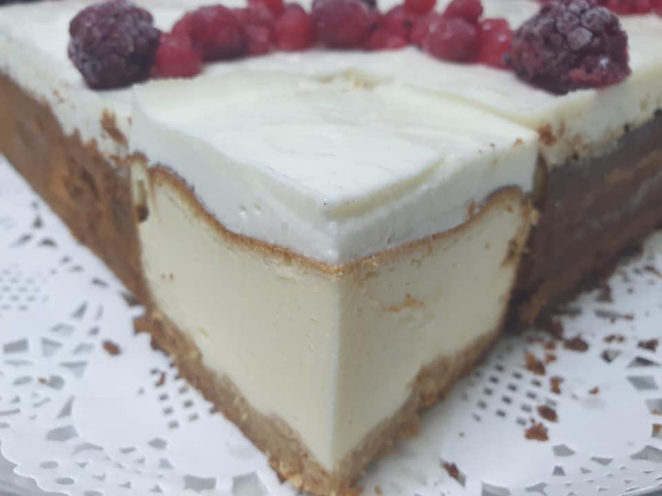 עוגת גבינה בחושה על בסיס שקדים ❤_מתכון של ירדנה ג'נאח
