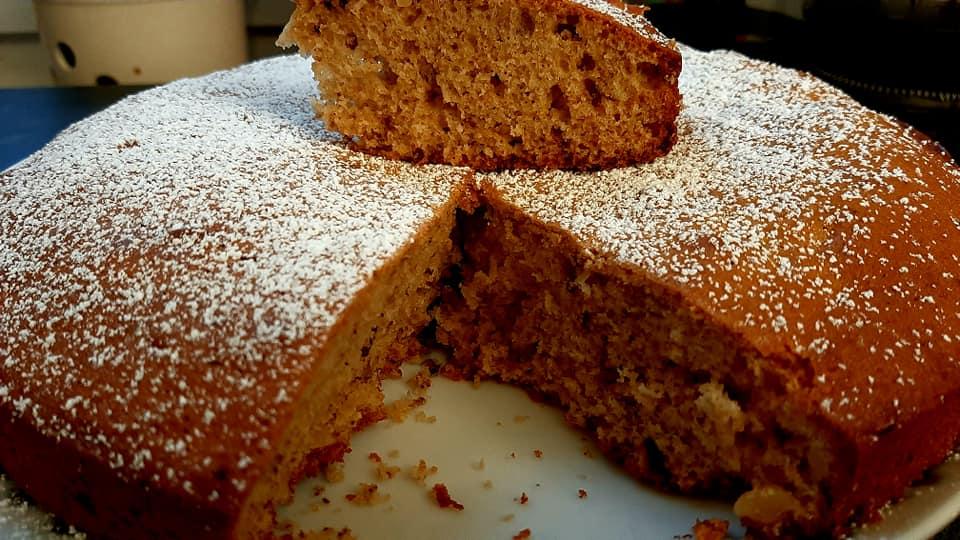 עוגת אגוזים מייפל בחושה בטעם קפה😋_מתכון של ברכה זולינג