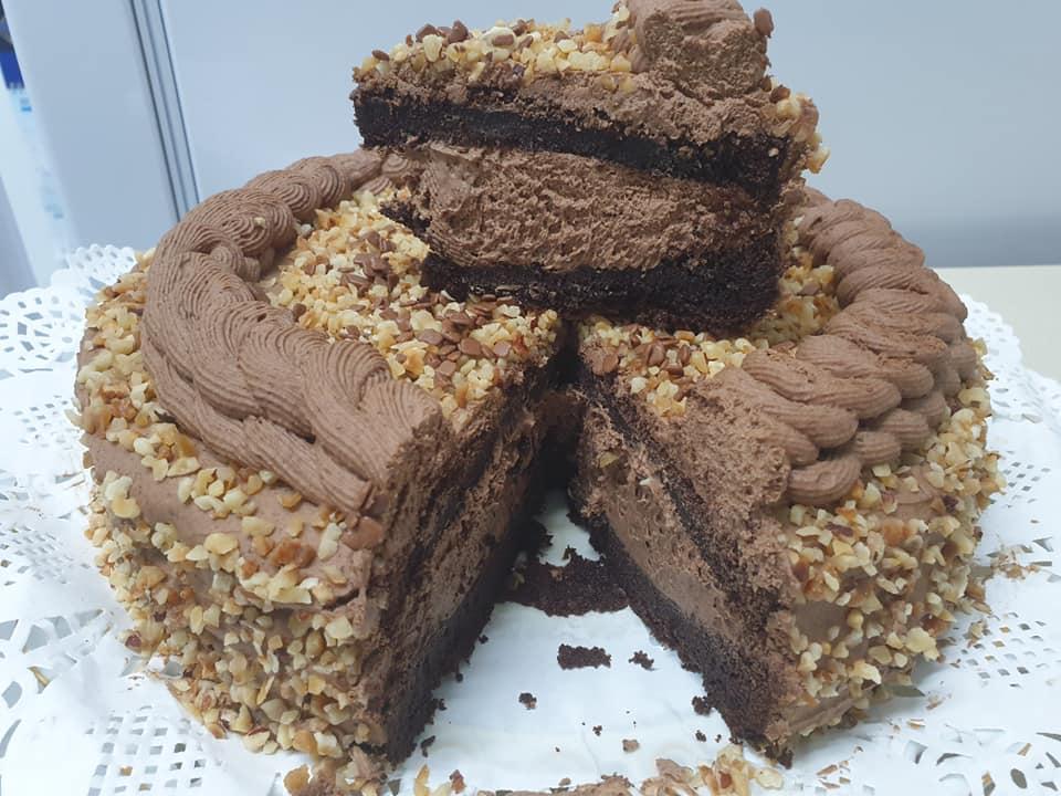 עוגת קפה ומוס אספרסו בציפוי אגוזי לוז ❤_מתכון של ירדנה ג'נאח