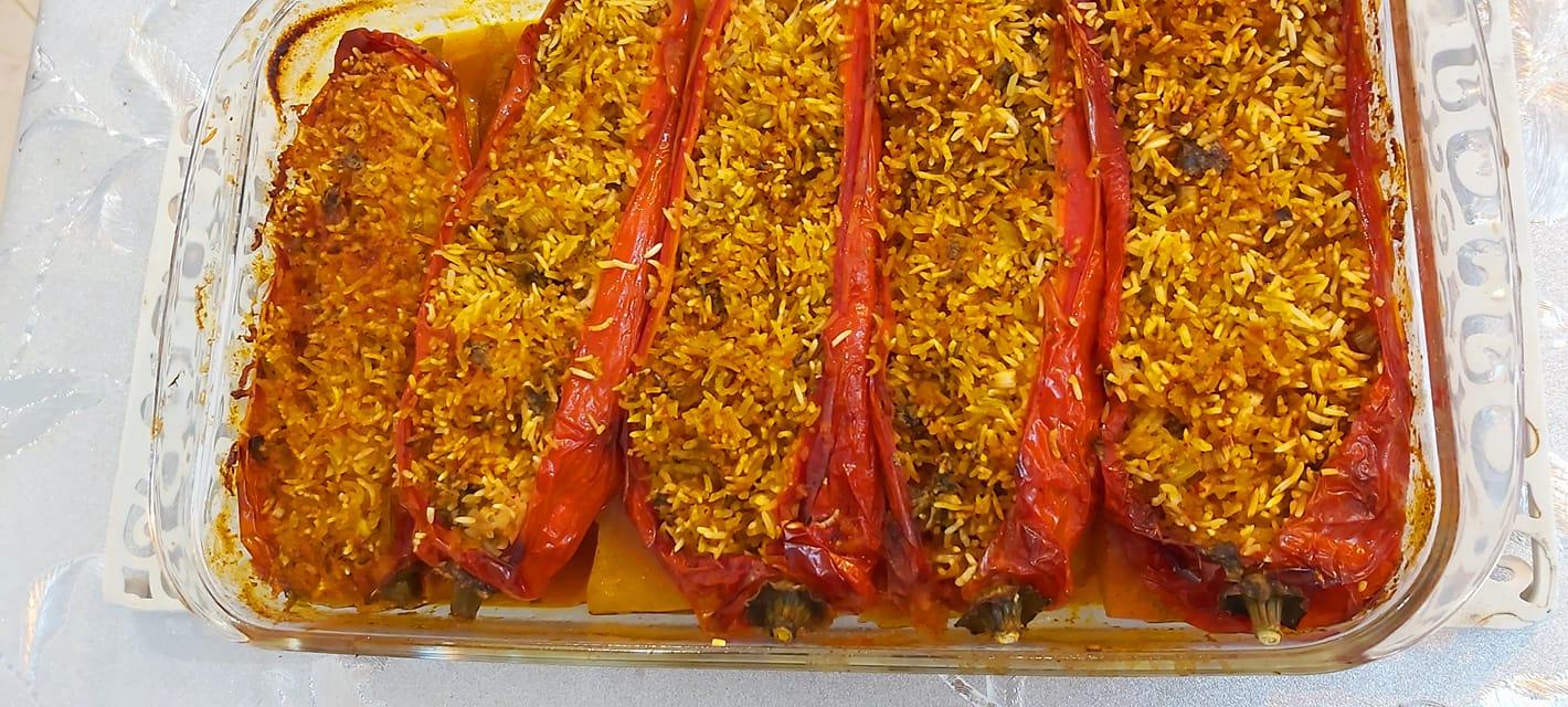 פלפל שושקה ממולא אורז_מתכון של רוז טעים במטבח אוחנה
