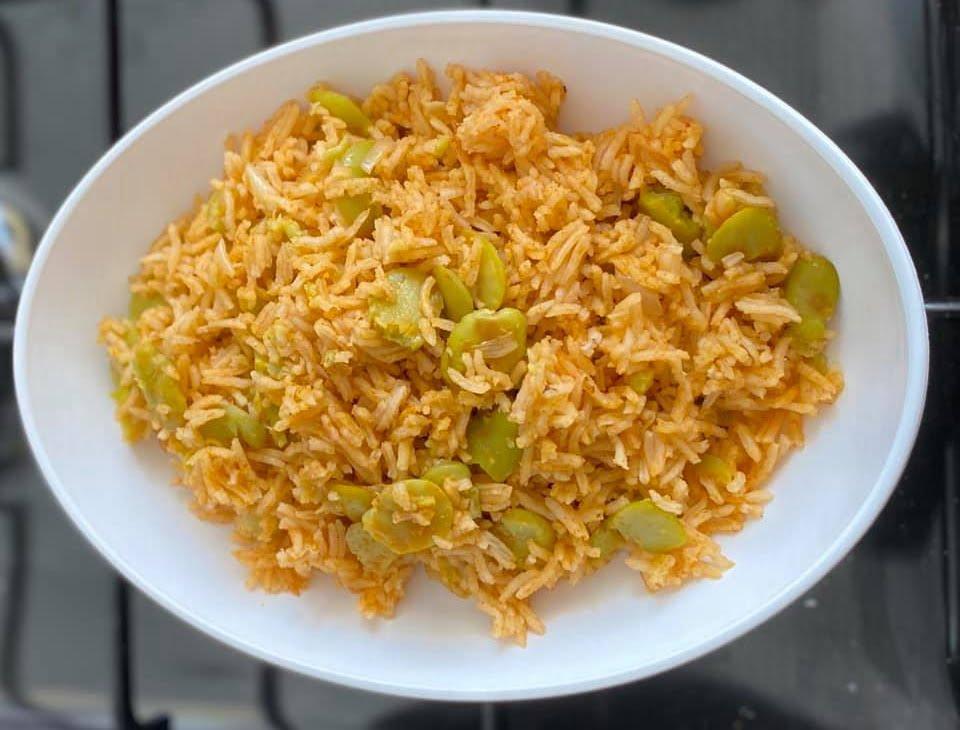 אורז אדום עם פול ירוק_מתכון  של מרי שקד שירזי
