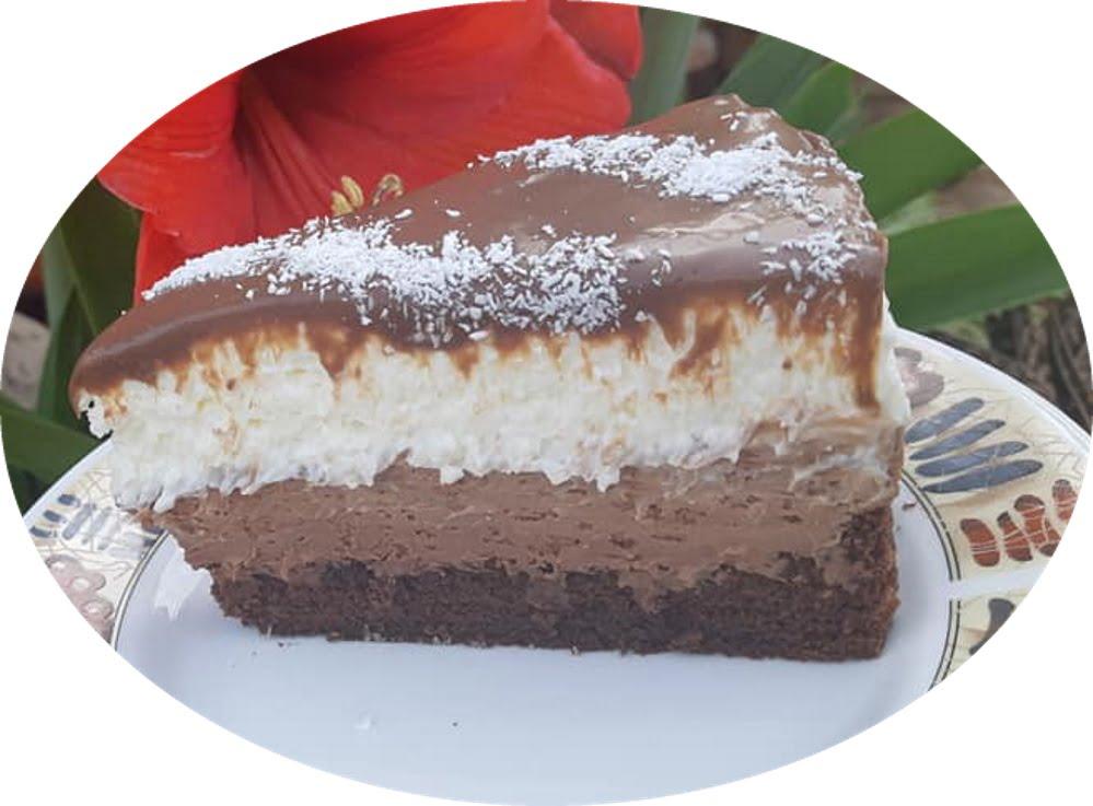 עוגת קרמבו עם קרם שוקולד, וקרם וניל_מתכון  של אפרת מילוא טויטו