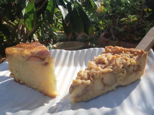 עוגת אפרסקים / תפוחים הפוכה_מתכון  של אפרת מילוא טויטו