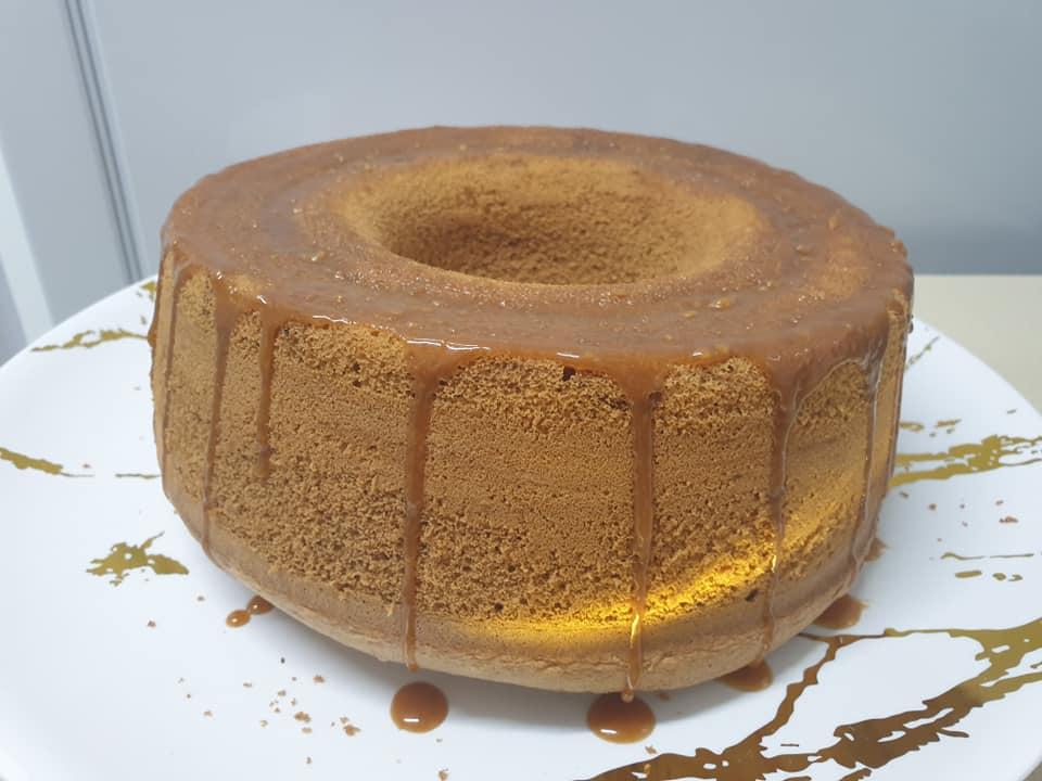 עוגת טורט נס קפה  בציפוי קרמל ❤_מתכון של ירדנה ג'נאח