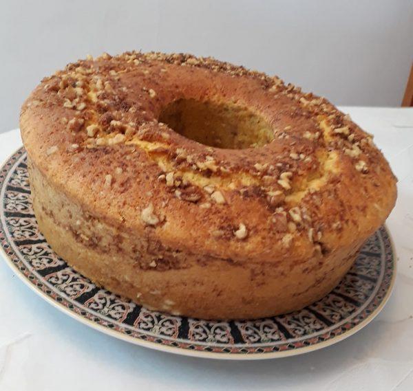 עוגה בחושה במילוי אגוזים  ועוד🍊🍋☕☕_מתכון של תהילה גיל