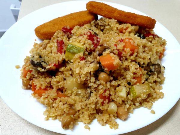 תבשיל ירקות ובורגול …טעים ובריא וקל הכנה_מתכון של ירדנה ג'נאח – מאסטר מתכונים