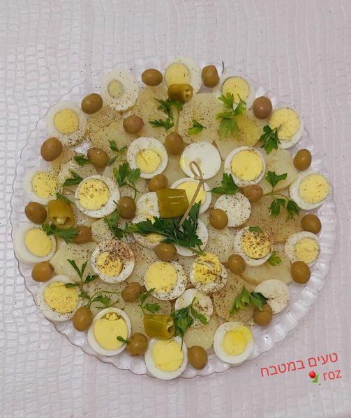 סלט תפוח אדמה וביצים_מתכון של רוז טעים במטבח אוחנה – מאסטר מתכונים