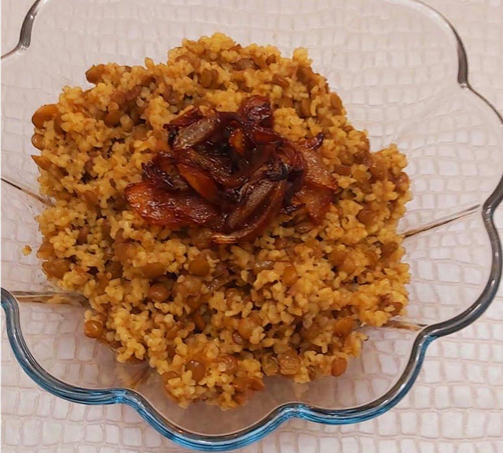 בורגול עם עדשים ירוקות_מתכון של רוז טעים במטבח אוחנה – מאסטר מתכונים