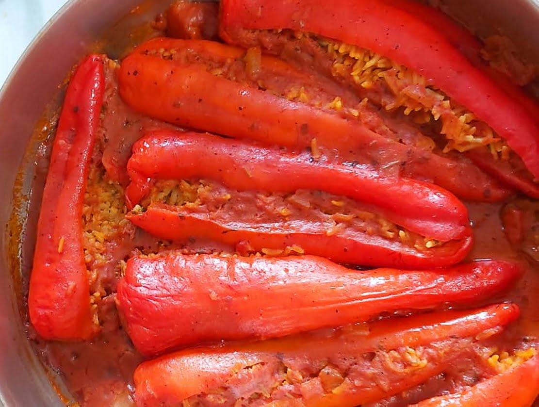 פלפל שושקה ממולא אורז_מתכון של רוז טעים במטבח אוחנה – מאסטר מתכונים