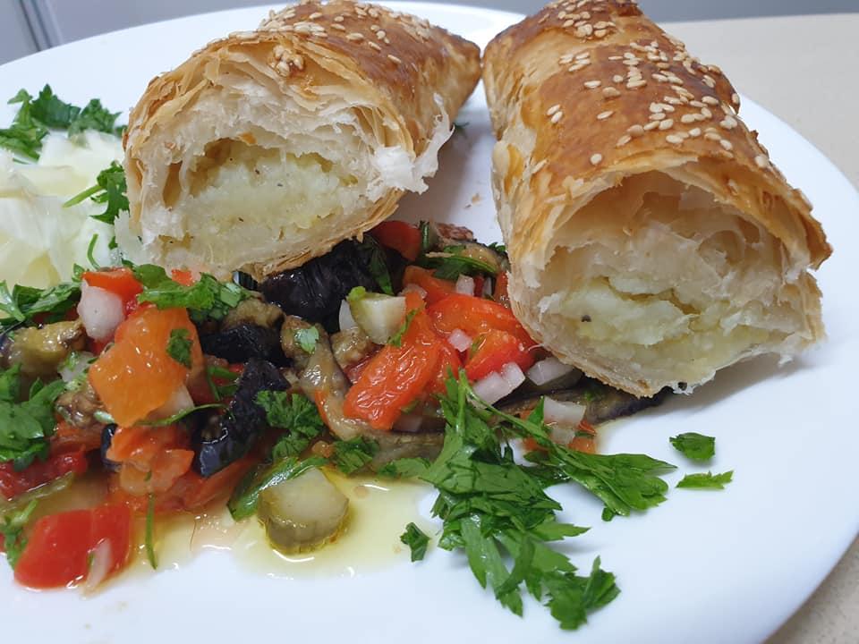 בצק פילאס של מעדנות במילוי חציל ותפוחי אדמה ❤_מתכון של ירדנה ג'נאח – מאסטר מתכונים