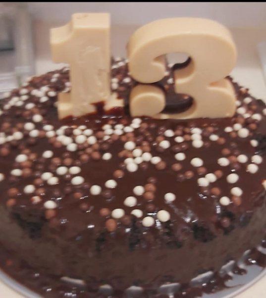 עוגת יום הולדת פרווה כולל ספרות משוקולד_מתכון של רוז טעים במטבח אוחנה – מאסטר מתכונים