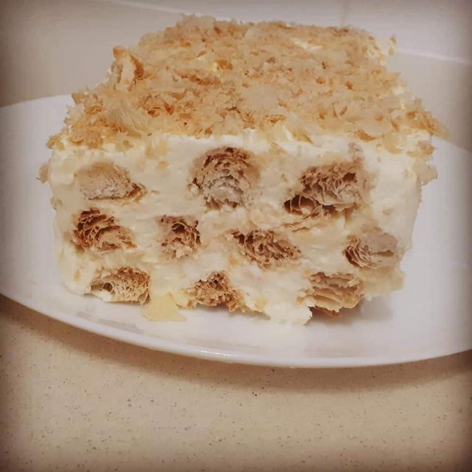 עוגה קצת שונה,די מזכירה את הקרמשניט._מתכון של צופית בן יוסף – מאסטר מתכונים